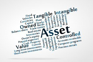 Words associated with assets like cash, precious metals, currency, investments, securities, etc