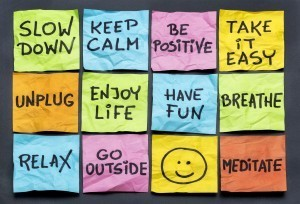 Graphic showing have fun, enjoy life, be positive and more