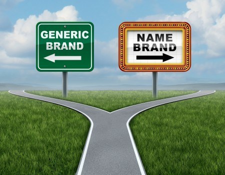 At a crossroads of buying the name brand item or its generic equivalent