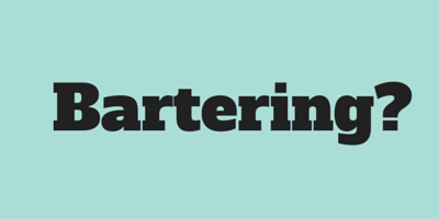 How you can barter your time, goods or services for something you need