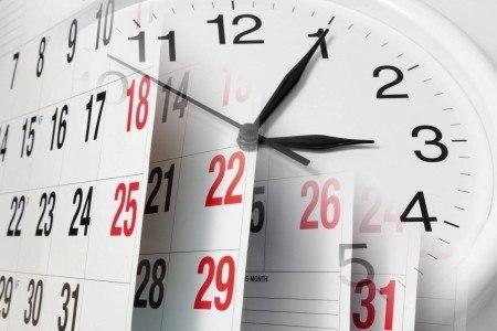 Time clock and schedule calendar