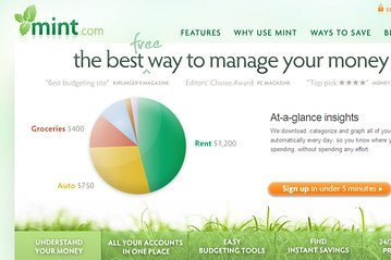 Some people say Mint.com is the best way to manage your money. This screenshot shows how well designed the user interface is on Mint.