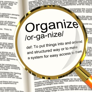 Showing the definition of organize