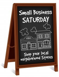 Sign promoting small businesses