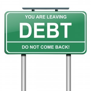 Shows that you are leaving the debt zone never to come back again