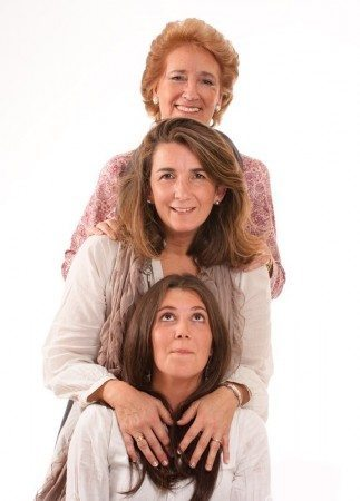 Three generations of women from a single family