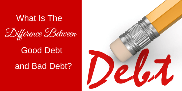Not all debt is bad....here we talk about what is the difference between good debt and bad debt