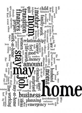 Words associated with stay at home moms